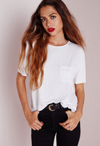 Missguided Basic One Pocket T Shirt White