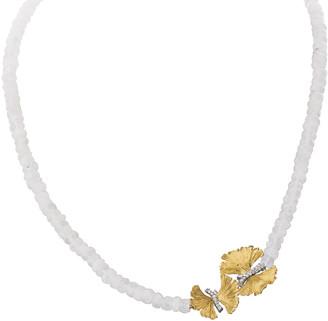 Michael Aram Butterfly Ginkgo Single-Strand Necklace w/ Moonstone