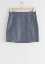 Thumbnail for your product : And other stories Wool Blend Mini Pencil Skirt