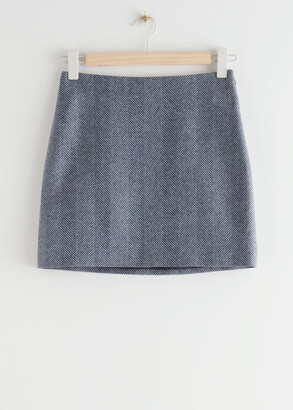 And other stories Wool Blend Mini Pencil Skirt