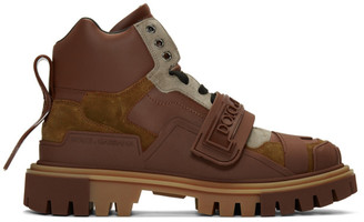 Dolce & Gabbana Brown Trekking Boots