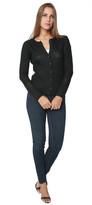 Inhabit Perforated Cardigan Black Sweater