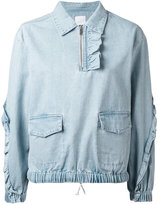 Sjyp frill denim blouse - women - Cotton - XS