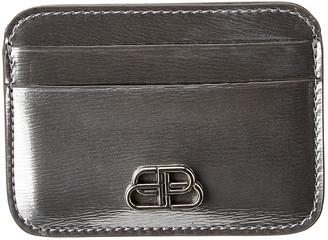Balenciaga Bb Metallized Leather Card Holder