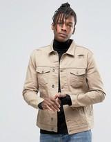 Kubban Denim Western Denim Jacket Sand color