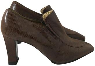 Saint Laurent Brown Leather Heels