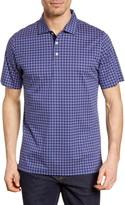 Bugatchi Print Regular Fit Short Sleeve Mercerized Cotton Polo