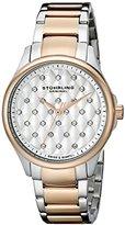 Stuhrling Original Women's 567.03 Vogue Swiss Quartz Crystal Dial Two Tone Rose Watch