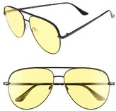 Quay Women's X Desi Perkins Sahara 60Mm Aviator Sunglasses - Black/yellow