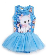 Rock Your Baby Infant Girl's Retro Kitten Circus Tank Bodysuit Dress