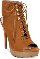 Bar III Emiko Lace-Up Suede Heels, Only at Macy's