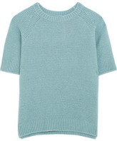 Max Mara Cashmere And Silk-blend Sweater - Blue