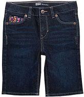 Levi's Katy Denim Bermuda Shorts - Girls 2t-4t