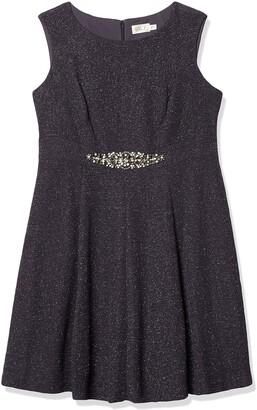 Eliza J Women's Plus Size Glitter Fit & Flare Dress