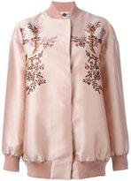 Stella McCartney floral embroidery bomber jacket