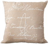 Surya French Script Pillow