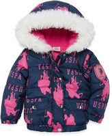 U.S. Polo Assn. Heavyweight Logo Puffer Jacket - Girls-Baby