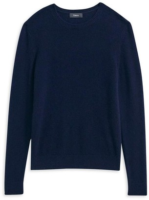 Theory Crewneck Sweater In Feather Cashmere