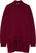 Rosetta Getty Wool And Cashmere-blend Sweater - Burgundy