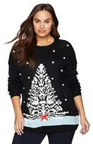Notations Women's Plus Size Ugly Christmas Tree Sweater