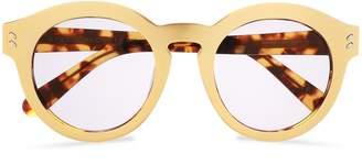 Stella McCartney Round-frame Gold-tone Acetate Sunglasses