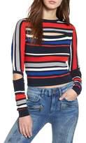 Tommy Jeans x Gigi Hadid Intarsia Stripe Sweater