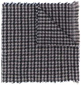 Fay houndstooth knit scarf