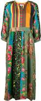 Pierre Louis Mascia Mixed Print Flared Dress