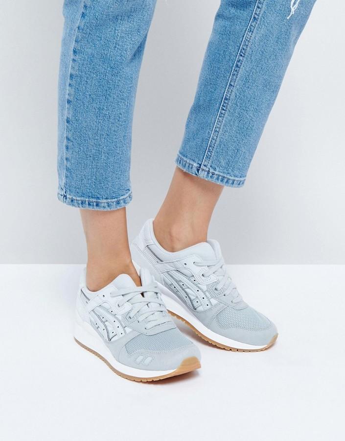 Asics Mesh Gel-Lyte Iii Sneakers In Grey & Cream