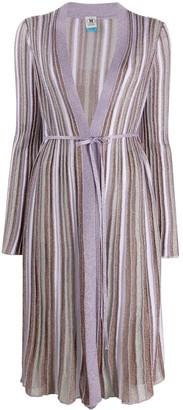 M Missoni Striped Long-Line Cardigan