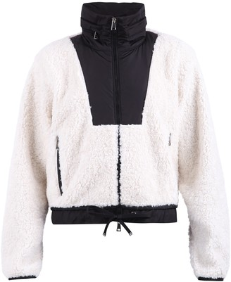 Moncler Contrast Collar Cropped Jacket