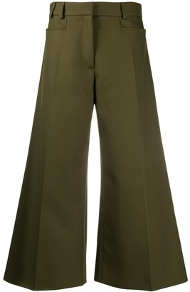 Stella McCartney Wide-Leg Cropped Trousers