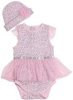 Careesoffe 1Set Baby Girls Kids Leopard Romper Jumpsuit Bodysuit +Hat Outfits Size 12