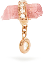 Jacquie Aiche Diamond, tourmaline & rose-gold earring