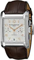 Baume & Mercier Baume Mercier Men's 10029 Hampton Mens Chronograph Leather Strap Dial Watch