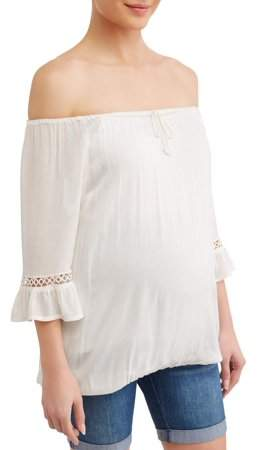 32db906299f67 Ivory Maternity Top - ShopStyle