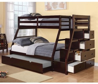 ACME Furniture Jason Wooden Frame Twin over Full Bunk Bed