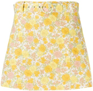 Faithfull The Brand Floral Print Belted Shorts