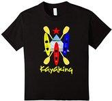 Kids Kayak Sail Boats Paddles Cool Kayaking Theme T-Shirts 6
