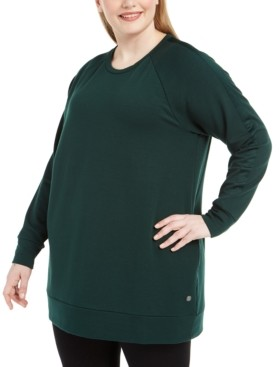 Ideology Plus Size Crewneck Tunic Top, Created for Macy's