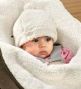 JJ Cole BundleMe Hat - Cream - 0-6 Months