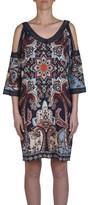 Jump Cold Shoulder Paisley Print Dress