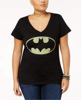 Bioworld Trendy Plus Size Cotton Batman Graphic T-Shirt
