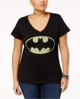 Bioworld Trendy Plus Size Cotton Batman Graphic T-Shirt