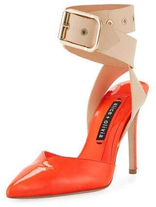 Alice + Olivia Rachelle Patent Two-Tone Pump