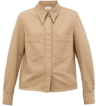 Lemaire Garment-dyed Cotton-twill Overshirt - Camel