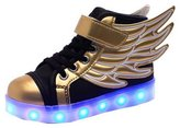 Acme Child Boy Girl LED Light Up Sneaker Athletic Wings Trainers High-top Shoes USB Charging Shoes