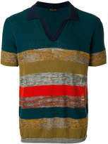 Roberto Collina striped knitted polo shirt