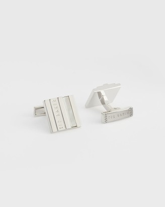 Ted Baker Stepped Mother Of Pearl Cufflinks