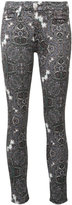 7 For All Mankind abstract print skinny jeans - women - Cotton/Spandex/Elastane - 24